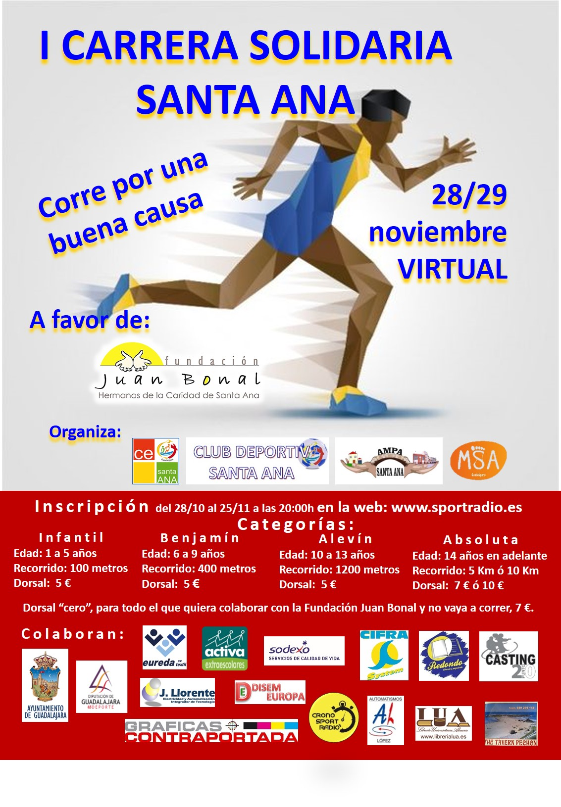 1 CARRERA SOLIDARIA VIRTUAL 28 29